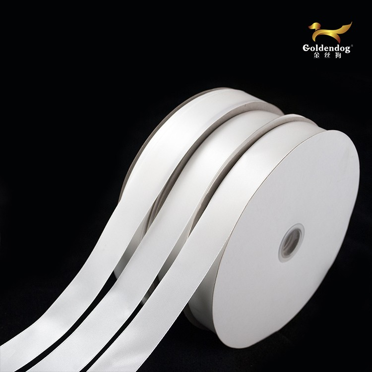 China supply 100yards polyester white satin ribbon for sale