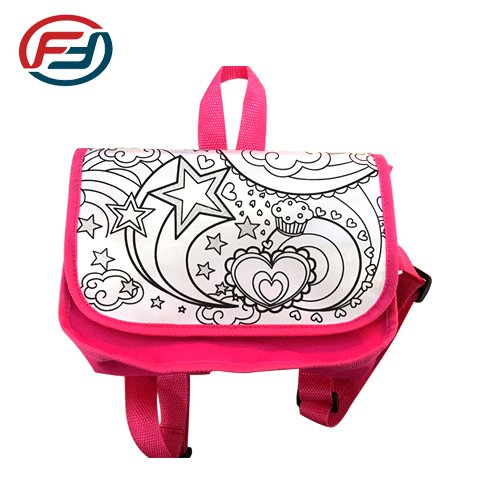 back to school graffiti bag for kids' paintting