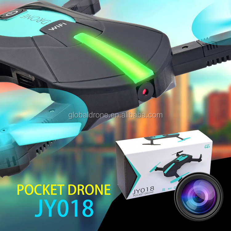 Micro Pocket Selfie Drone Quadcopter Photography Wifi FPV With 0.3MP Camera Phone Control JY018 Elfie Pocket Fold Portable Dron