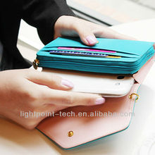 wallet leather case for iphone 5 mobile phone wallet case supplier