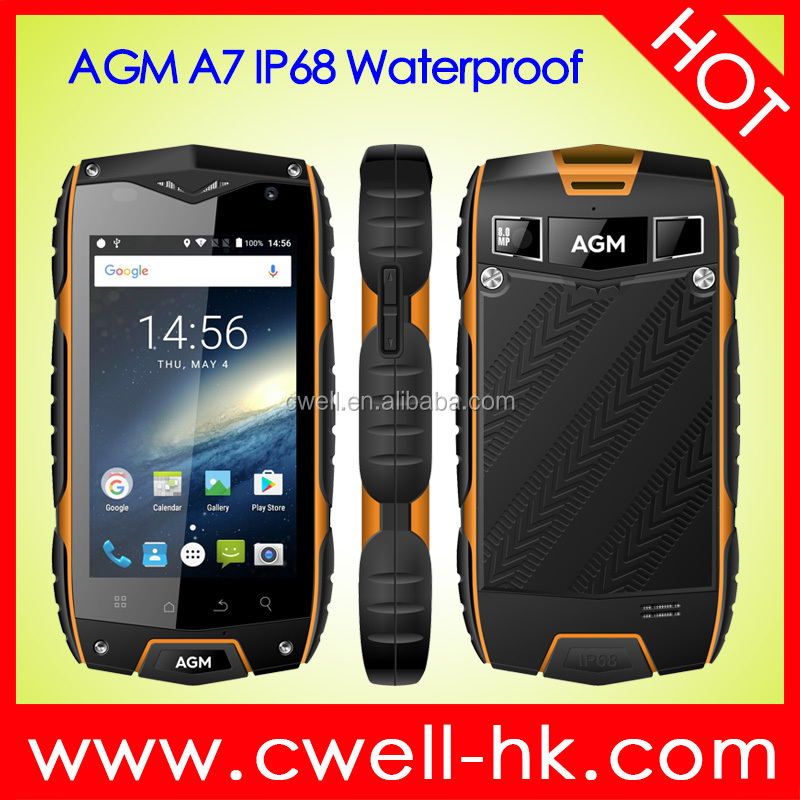 4.0 Inch Quad Core 2GB RAM <strong>16GB</strong> ROM 8.0MP Rear Camera 2930mAH Big Battery 4G LTE IP68 Waterproof Android Smartphone AGM A7