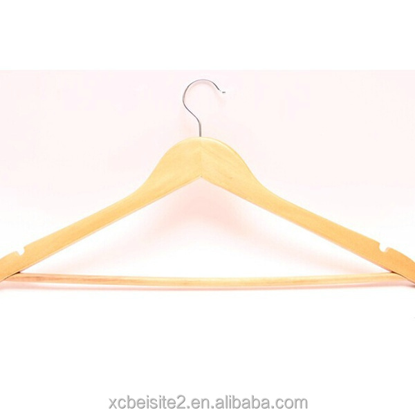 m391 Wholesale metal hook clothes coat antique wooden hanger