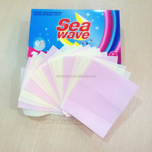 Super condensed laundry detergent sheets Paper Laundry Tablets Laundry Paper Detergent Sheets