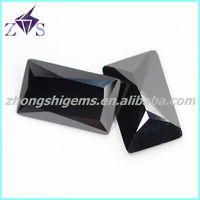 Cubic zircon rectangle black millennium cut gemstone price list