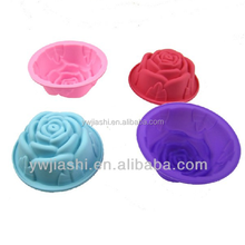 Rose shaped silicone muffin case,cake mould