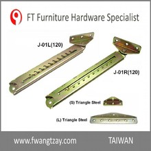 Taiwan OEM 10 Position Industrial Furniture Adjustable Angle Extension Door Desk Table Bed Sofa Metal Mechanism Hinge Hardware