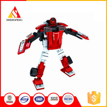 Chenghai factory 2 in 1 trans robot car intelligent block toy