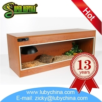 Professional reptile wooden cage for reptile display