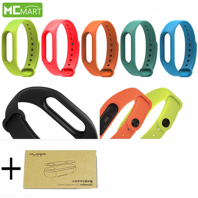 Xiaomi Mi Band 2 Strap+Screen Protector Solicone Anti-lost Xiaomi Miband 2 Wristband Strap Bracelet for Replacement! IN STOCK!