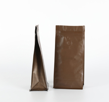 Oker brand aluminum foil packaging bags matt material flat bottom zipper coffee bags with valve