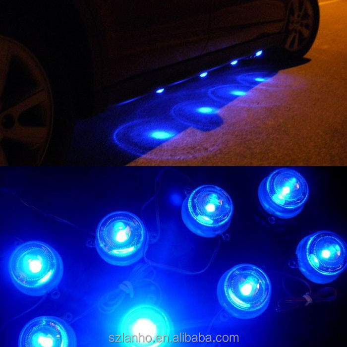 2015 new 8LED Waterproof Blue Decoration Atmosphere Light Car Lamps