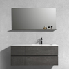 42Inch Modern Chinese Single Sink Hotel Australian Bathroom vanity Units With Sink