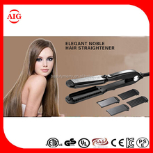 PTC heater 4 in 1 hair straightener with removable plates hair straightener, hair salon equipment, hair flat iron