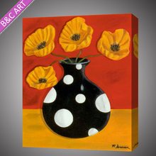Lovable decorative abstract vase flower painting