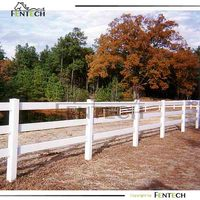 High quality strength plastic coated wood fencing