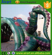 Mammoth worm fission inflatable tunnel model inflatable jellyfish A unique style