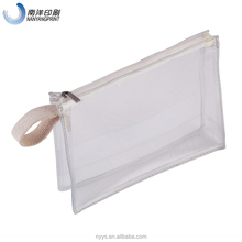 Custom PVC Zipper Clear Packaging Plastic Bag With Handle