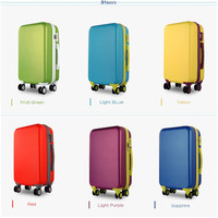 In stock suitcase type abs pc luggage suitcase vintage carry-on luggage with great price