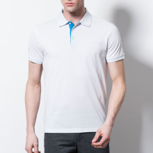 hight quality white simpe collar short sleeve men's polo t shirt