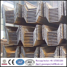 Q235B Steel Material U style hot rolled sheet pile for building construction