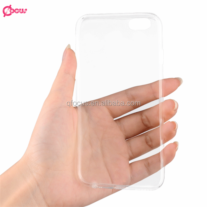 high quality mobile phone clear cover transparent 0.3mm tpu case for iphone 6