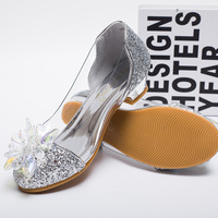 S32919W Girl Dress Shoes New Fashion Rhinestone Girl Party Dress Solid Pretty Round Kids Shoes