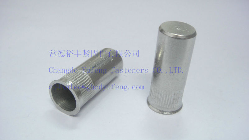 m6 closed end rivet nut stainless steel 304 small head knurled