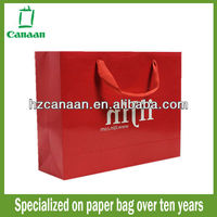 Luxury paper shopping bag with recycled paper