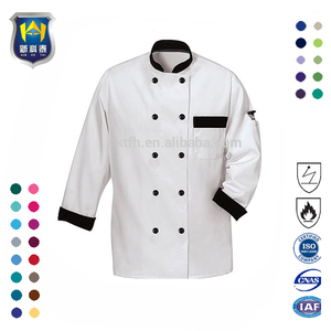 Wholesale Unisex Multi Color Triangle Collar Chef Coat Custom Chef Uniform