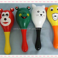 Animal Cartoon Wood Rattle Toys Music