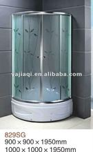 4mm 5mm 6mm acid tempered glass cabine de douche shower enclosure