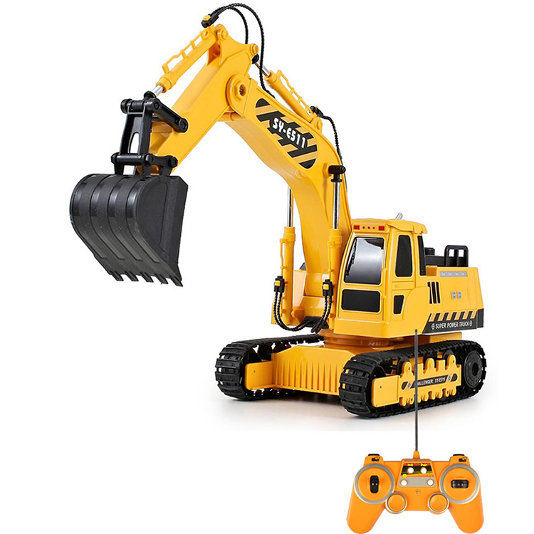 2.4G 8 Channel Rc Construction Toy Trucks Excavator