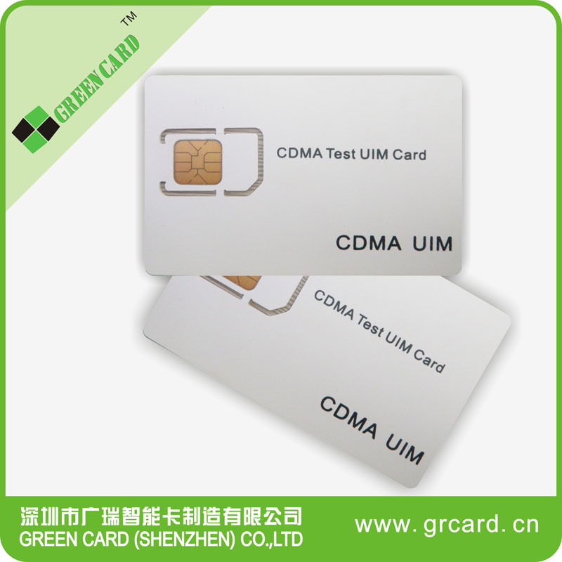 13.56Mhz dual interface CDMA test sim card from manufactory