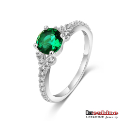 Silver Ring with Turquoise Stone for Women Luxury Jewelry Wholesale CRI0216-B