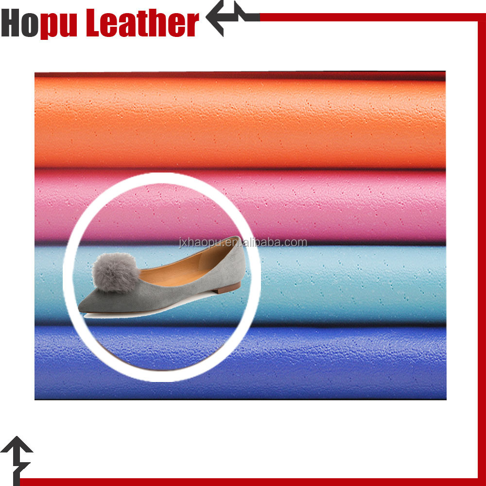nonwoven glitter fabric embossed artificial pu leather material for shoes