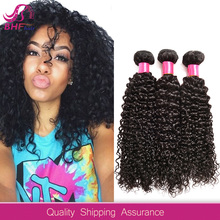 Wholesale Natural 100% Pure Curly Human Hair Unprocessed Virgin Raw Indian Hair from Temple