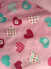 100% cotton heart print flannel fabric for baby bedding set