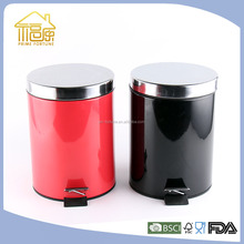 Colorful Stainless Steel Step Bin/Pedal Bin with Plastic Inner Bucket/Dust BIn