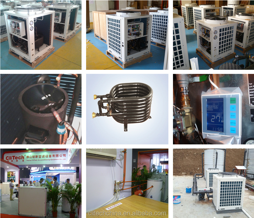 Heat pump hot water heater 60HZ private underfloor radiator heating, fan coil heating, convector heating