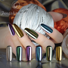 fengshangmei brand shell effect powder mirror pigment powder new mirror chrome pigment for nail art powder