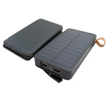 Fashion practical waterproof cell phone solar charger with LED light