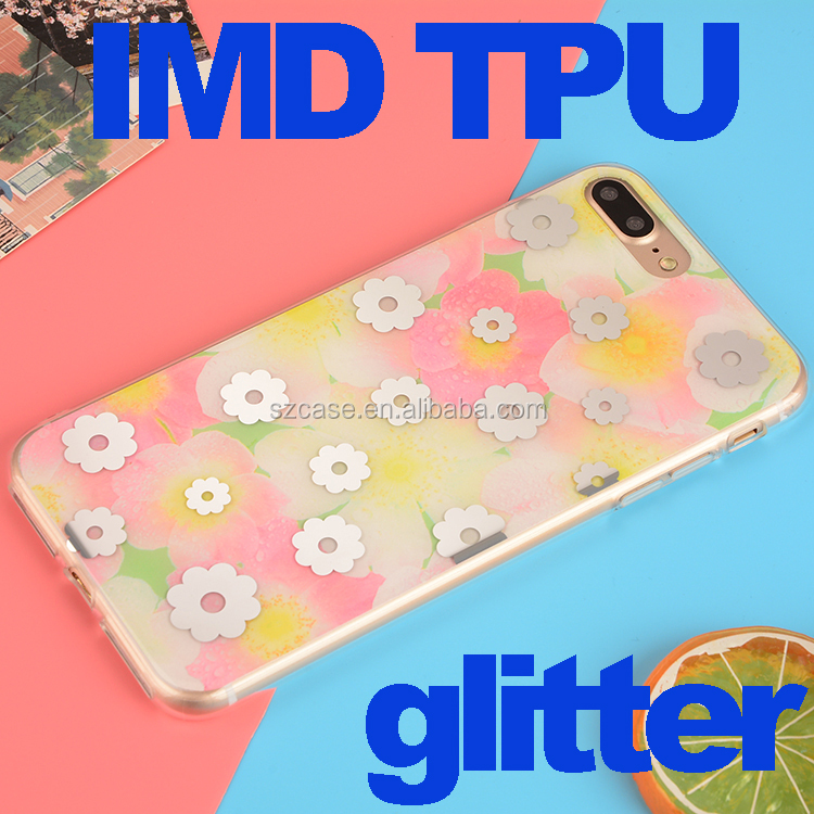 Wholesale Glitter Colorful IMD Design Cell Phone Case for Iphone 7