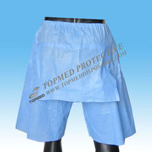 Hot Sale Nonwoven medical hospital panties, disposable colonoscopy pants with flap