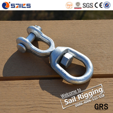 us type carbon steel jaw and eye forged chain swivels