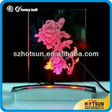hot sale clear acrylic table top led display decor furniture