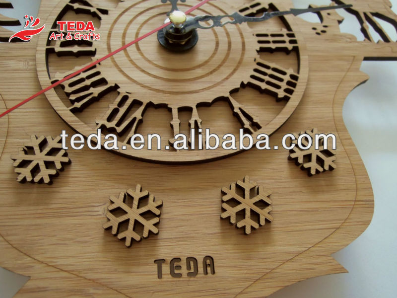 Wooden Clock with Animal Themed
