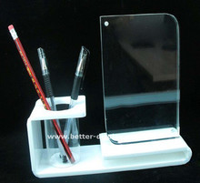 Acrylic Pen Pencil Holder Stand Set Office Desktop Desk Accessory
