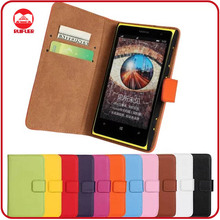 RF Manufacturer Folio 100% Real Genuine Leather With Card Slots Stand Flip Wallet Pocket Pouch Leather Case for Nokia Lumia 1020