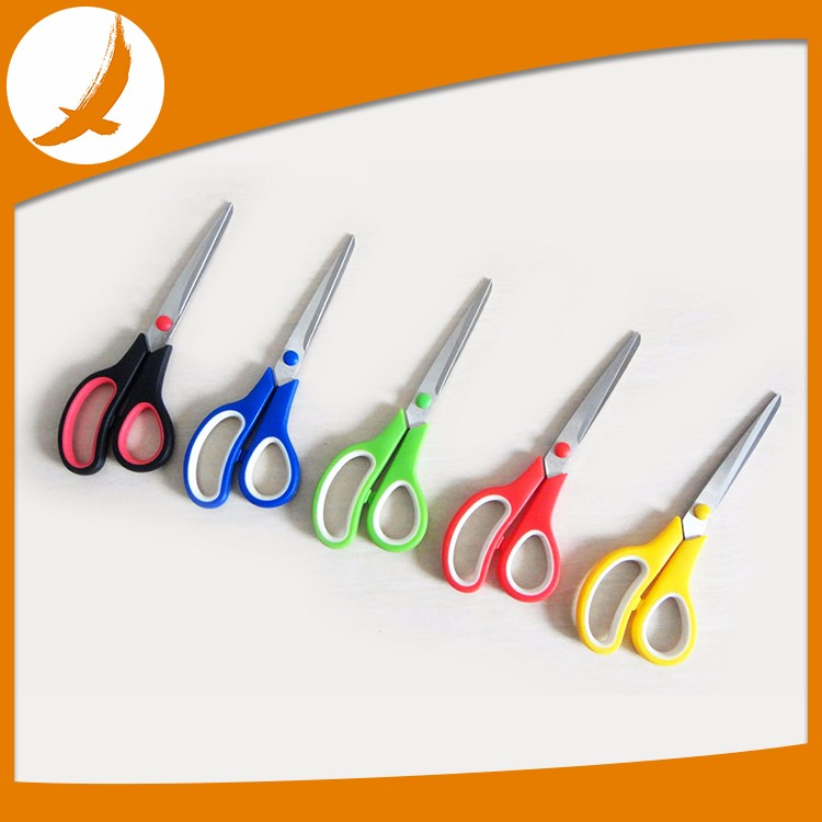 2016 Superior stainless steel children scissors, cute 3pcs student scissors set