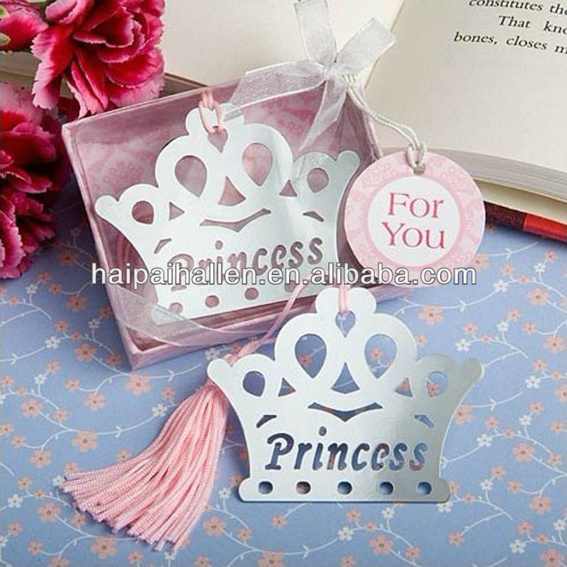 PINK Prince & Princess Mental Bookmarks For Wedding Gifts